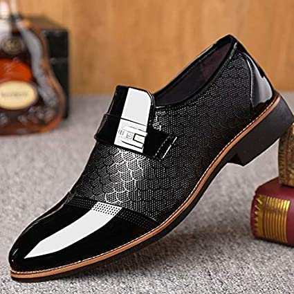 Men/'s Business Formal Dress Oxfords Leather Shoes Casual Wedding Pointed Toe