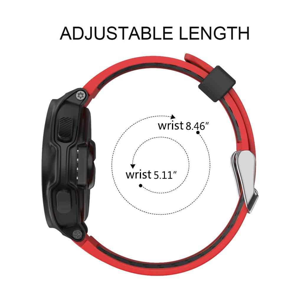 Rosso Cinturino in Silicone Morbido Compatibile Forerunner 735xt 220//230//235//620//630 Isabake Cinturino Garmin Forerunner 735XT