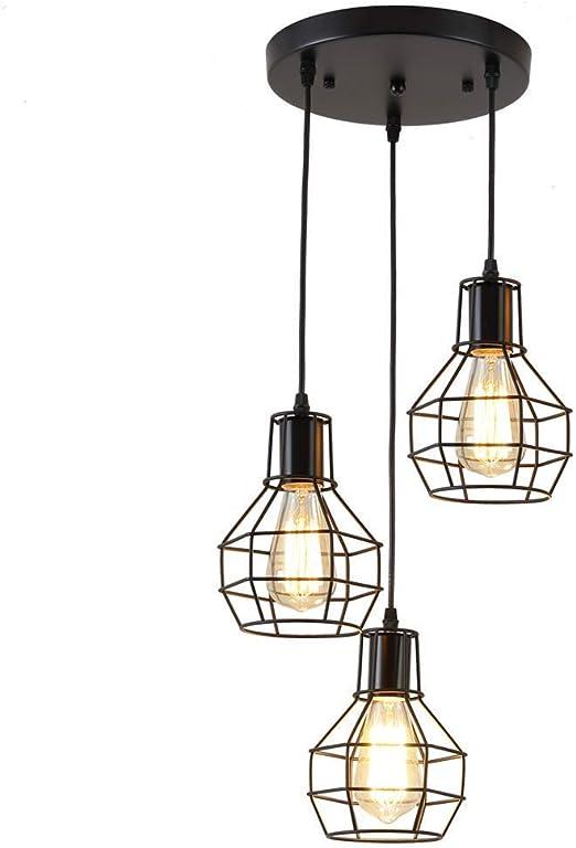 Estilo rústico techo Retro lámpara colgante vintage industriales ...
