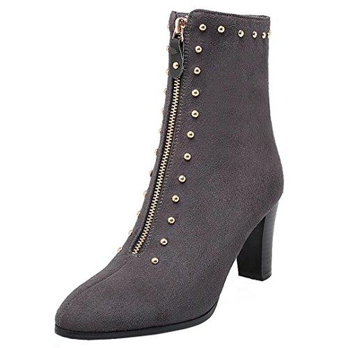 AIYOUMEI Women's Classic Boot Grey bNvtgkS4u