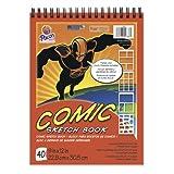 Pacon Comic Sketch Book, 9-Inchx12-Inch, 40-Sheet