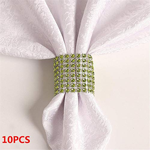 Miao Express 10PCS Wedding Table Decorations Nickel or Rose Gold Plated Napkin Rings,15 ()