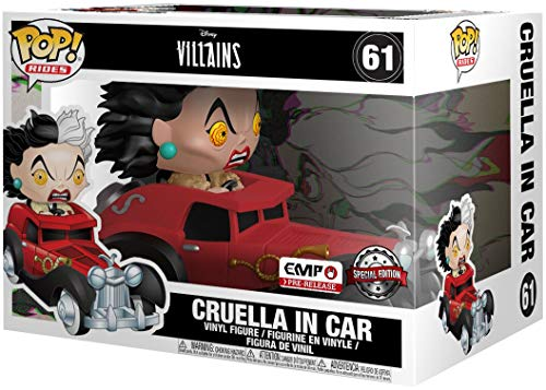 Funko One Hundred and One Dalmatians Cruella in Car Pop Rides Vinyl Figure 61 Pop! Standard