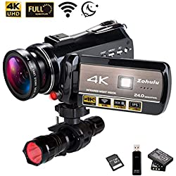 Ancter Actor-DV-005 4K WiFi Full Spectrum Camcorders, Ultra HD Infrared Night Vision Paranormal Investigation Video Camera, KK18