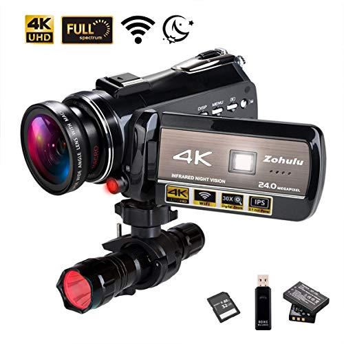 4K Wifi Full Spectrum Camcorders, Ultra HD...