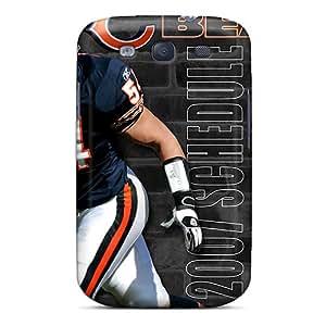 Shock Absorption Hard Cell-phone Cases For Samsung Galaxy S3 (eXk15679ldNL) Custom Lifelike Chicago Bears Pattern