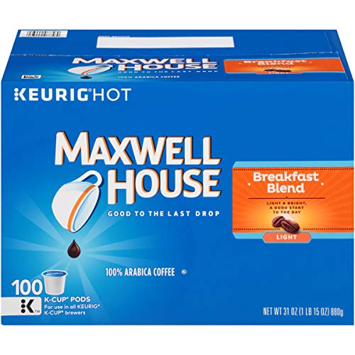 Maxwell House Breakfast Blend Coffee, K-CUP Pods, 100 Count -
