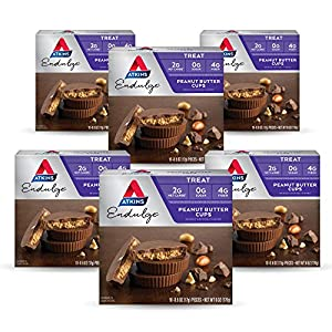 Atkins Endulge Treat, Peanut Butter Cups, Keto Friendly, 10 Count (Value Pack) Pack of 6