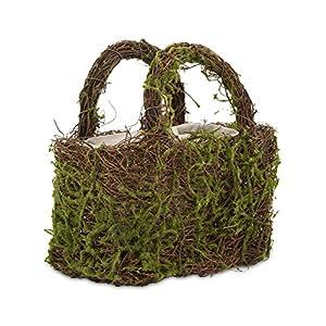 Weddingstar Rattan Moss Basket With Handles (1)
