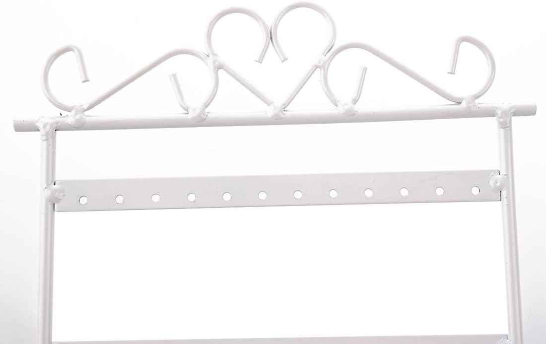 TOOGOO Blanco estante del pendiente R Pendientes 48 agujeros muestra Soporte de pendiente tenedor de pendiente Soporte tenedor de joyas