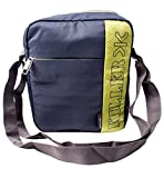 Killer ENTIZO Traveler Sling Bag For 10' iPad/Tablet - Shoulder Side Sling Bag for Men - Dark Grey & P. Green