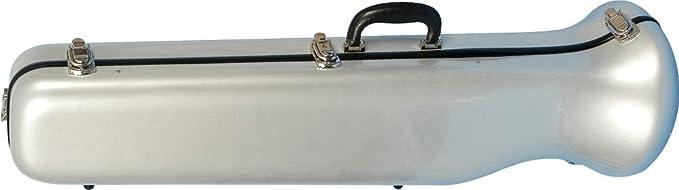 De fibra de vidrio estuche de trombón de JW Eastman, plata brillante de CE 176 S: Amazon.es: Instrumentos musicales