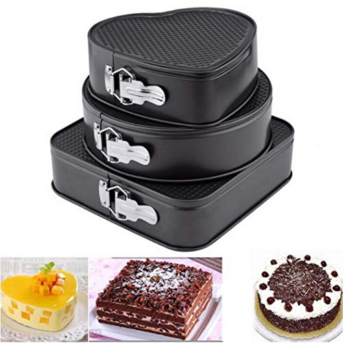 Cake Molds Non-Stick Springform Pan Carbon Steel Removable Bottom Bakeware Round/heart/square Cake Baking Pan