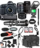 Cheap Canon EOS 5D Mark IV with 24-105mm f/4 L is II USM + 75-300mm III + 50mm 1.8 STM + 500mm Telephoto Lenses + 128GB Memory + Pro Battery Bundle + TTL SpeedLight + Pro Filters,(26pc Bundle)