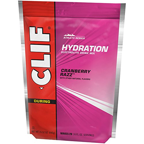 - CLIF HYDRATION ELECTROLYTE DRINK - Cran Razz Flavor - (15.5 Ounce, 1 Pouch)