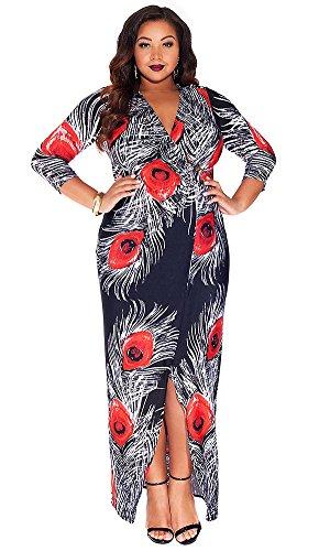 IGIGI Women's Plus Size Yasmine Dress in Onyx Poise 14/16