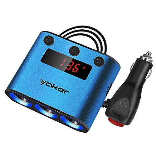 yaker-12-24-volt-3-socket-cigarette-lighter-power-adapter-dc-outlet-splitter-with-31a-dual-usb-car-c