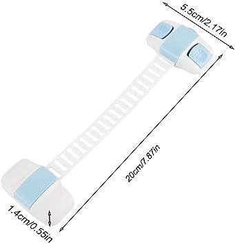 Cerradura de seguridad para beb/és Cerradura de caj/ón Protecci/ón multifunci/ón Cerradura de refrigerador para beb/és Cerradura de puerta de gabinete larga para ni/ños
