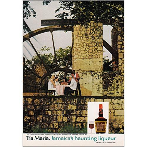 RelicPaper 1970 Tia Maria: Jamaicas Haunting Liqueur, Tia Maria Print Ad ()