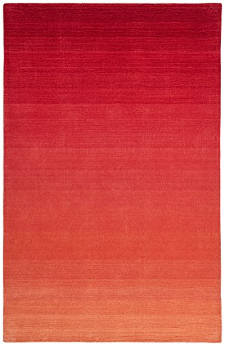 Rivet Modern Ombré Wool Rug, 5' x 8', Red by Rivet