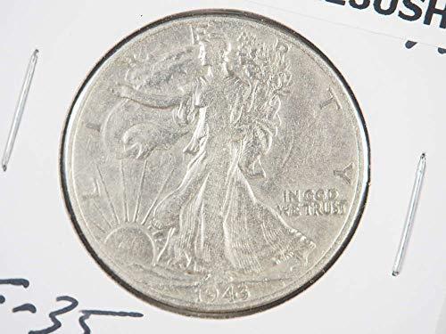 1943 P Walking Liberty Half Dollar Half Dollars Ungraded (Grading Walking Liberty Half Dollars)