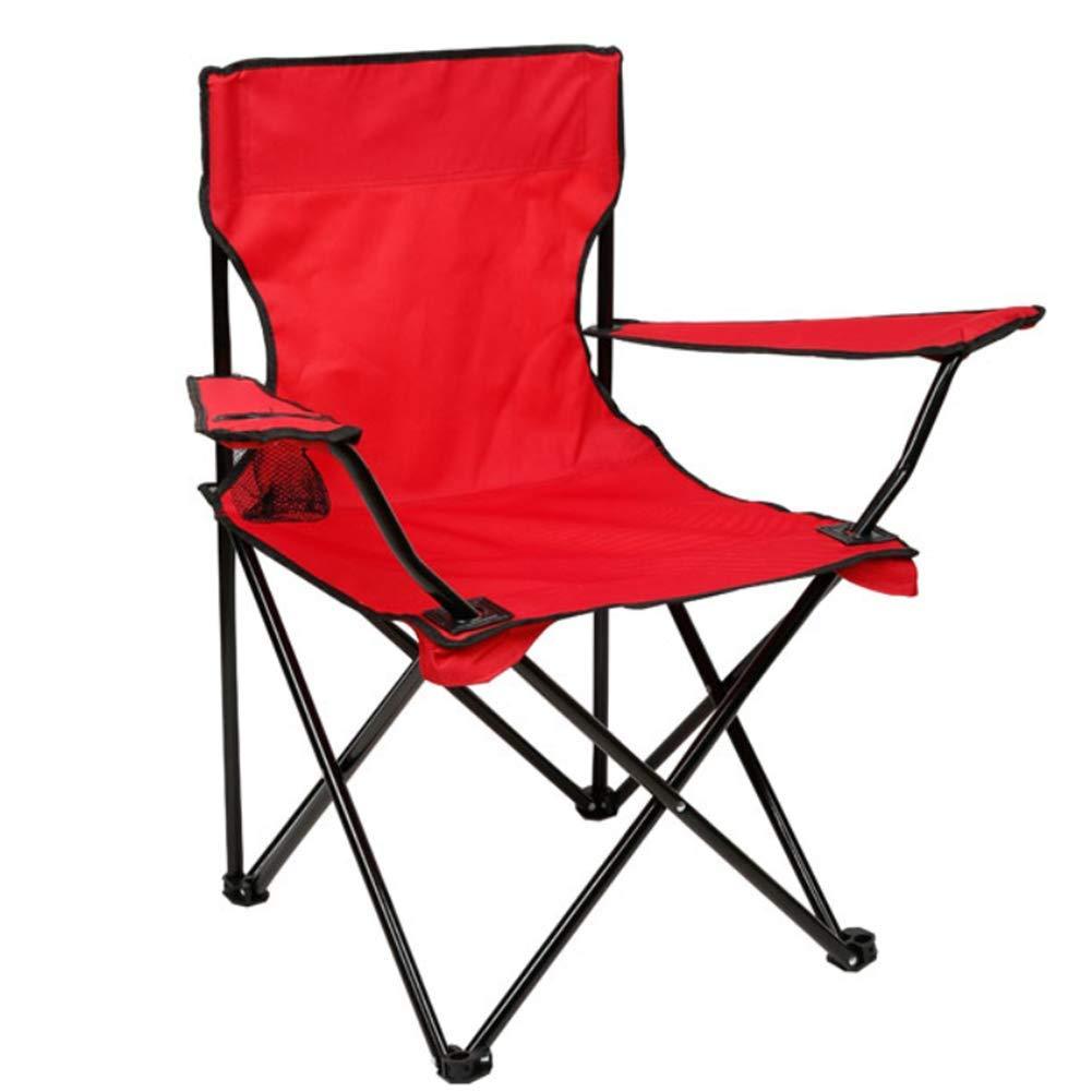 rouge  ZXL Pliage Camping Chaises De Pêche portable Plage Jardin en Plein Air Loisirs Pique-Nique Chaise Outil Ensemble 50x50x80 cm