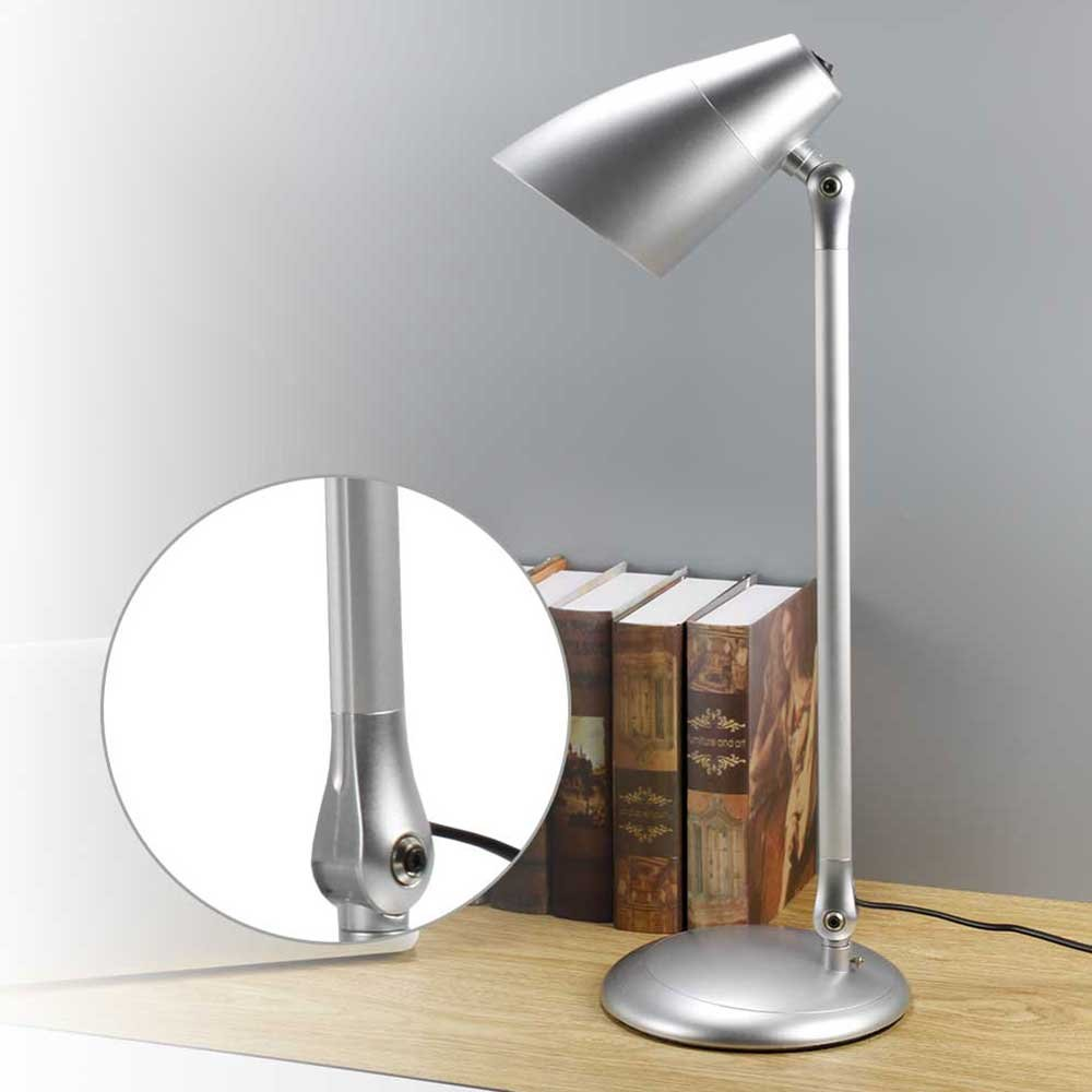 LVL Super Bright LED Desk Lamp for Office, Long Arm,Energy-Saving,Eye-Protection Design,Reading and Study Work Tall Desk Light(Silver)