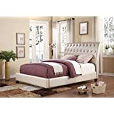 Acme Furniture 22837EK Pitney Bed, Eastern King, Pearl PU
