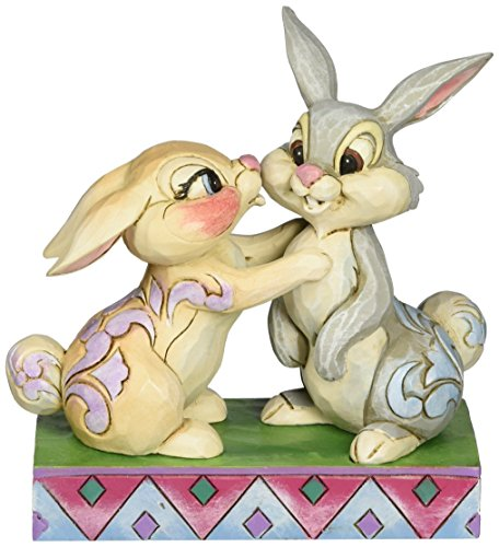 Department 56 Disney Traditions by Jim Shore Thumper and Miss Bunny Figurine, -