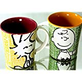 Peanuts Charlie Brown & Woodstock 15 Oz / 443 Ml Stoneware Coffee / Coca Mugs (2 Mugs) By Gibson USA