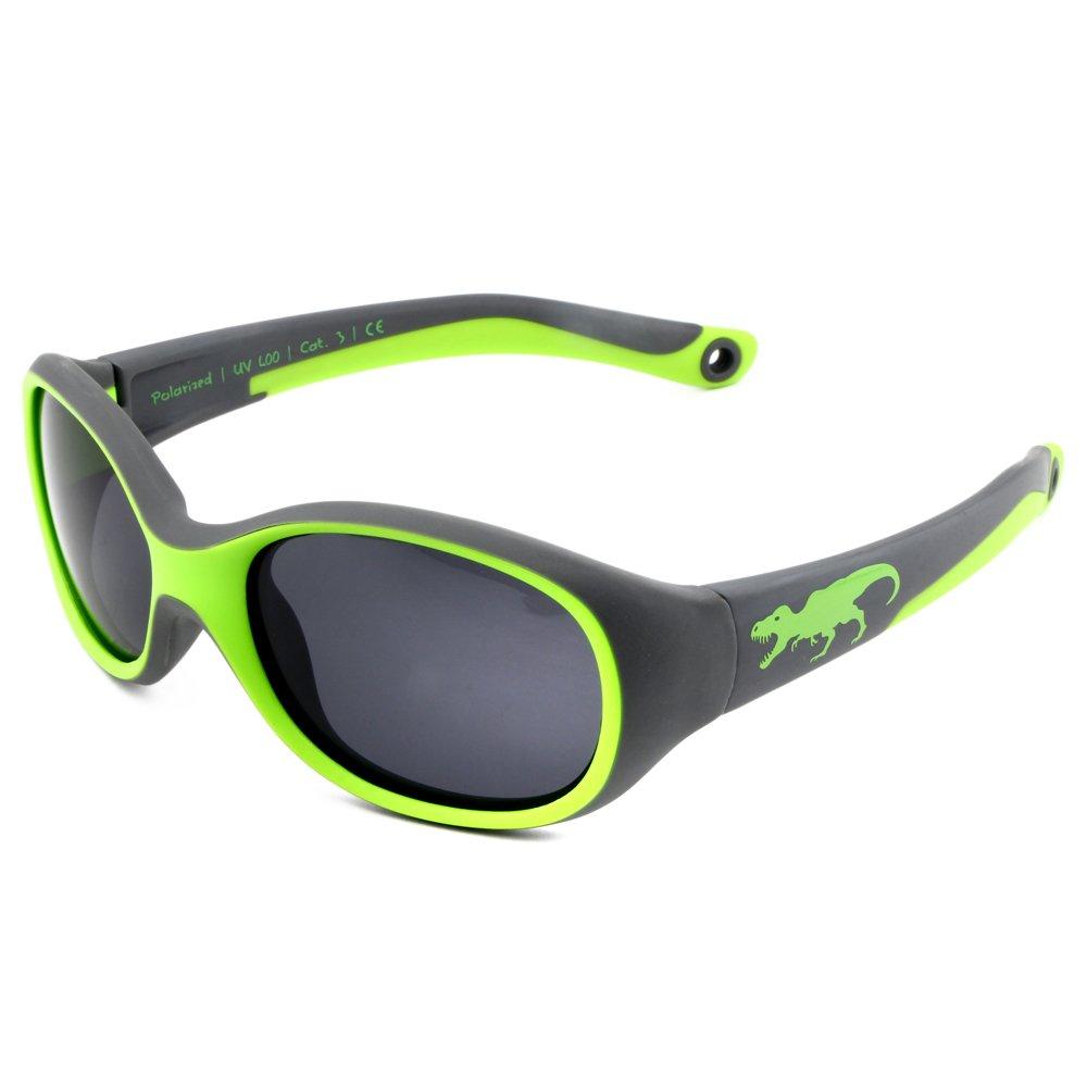 ActiveSol KINDER-Sonnenbrille | JUNGEN | 100% UV 400 Schutz | polarisiert | unzerstörbar aus flexiblem Gummi | 2-6 Jahre | 22 Gramm | Sonnenschutz