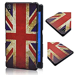 Superfect UK Flag Painting Slim Design Hard Back Case for Sony Xperia Z3 Protective Cover Skin Shell Super Light