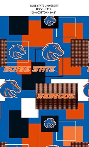 BOISE STATE COTTON FABRIC BLOCK PRINT-BOISE STATE BRONCOS BLOCK PRINT COTTON FABRIC-NEWEST - State Boise Fabric