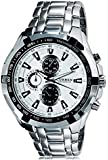 Curren Men's White Analog Stainless Steel Band Watch [8023]