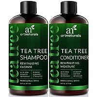 Set de champú y acondicionador de aceite de árbol de té ArtNaturals - (2 x 16 Fl Oz /473ml) - Sin sulfato - Aceite esencial de árbol de té de grado terapéutico - Limpieza profunda para caspa, cuero cabelludo seco y picazón del cabello