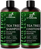 Cleansing Conditioner Scalp - ArtNaturals Tea-Tree-Oil Shampoo and Conditioner Set - (2 x 16 Fl Oz / 473ml) – Sulfate Free – Therapeutic Grade Tea Tree Essential Oil - Deep Cleansing for Dandruff, Dry Scalp and Itchy Hair