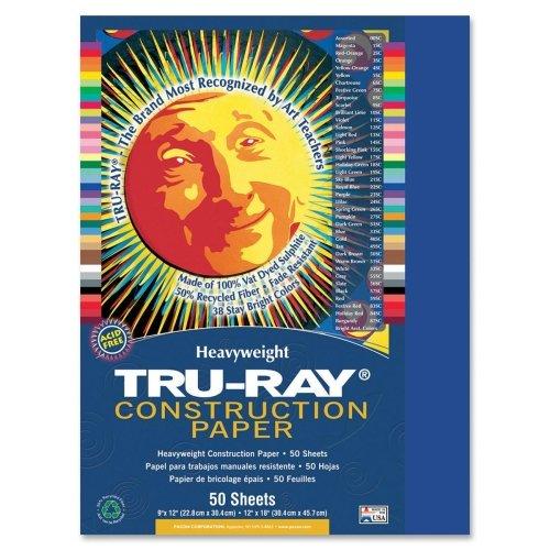 "Tru-Ray Construction Paper - 12"" x 9"" - Royal Blue"