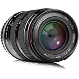 Meike 85mm F/2.8 Manual Focus Aspherical Medium Telephoto Full Frame Prime Macro Lens with Portrait Capability for Canon EOS EF Mount Digital DSLR Cameras