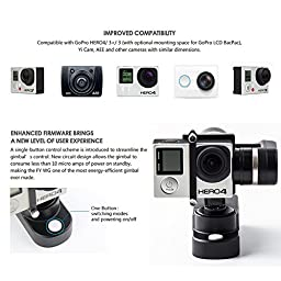 Feiyu FY-WG 3-axis Wearable Gimbal Stabilizer for Gopro Hero 3 3+ 4 LCD Touch BacPac With Wireless Remote + EACHSHOT? Cleaning Cloth