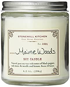 Stonewall Kitchen Maine Woods Soy Candle, 6.5 Ounce