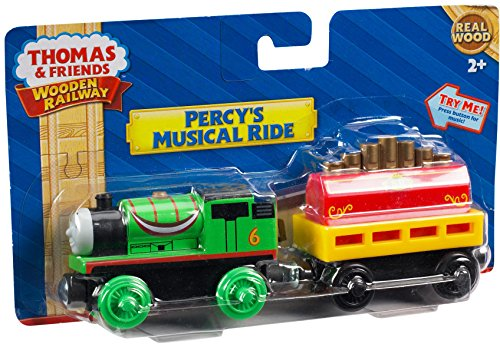 Fisher-Price Thomas & Friends Wooden Railway, Percy's Musical Ride Train - Battery Operated