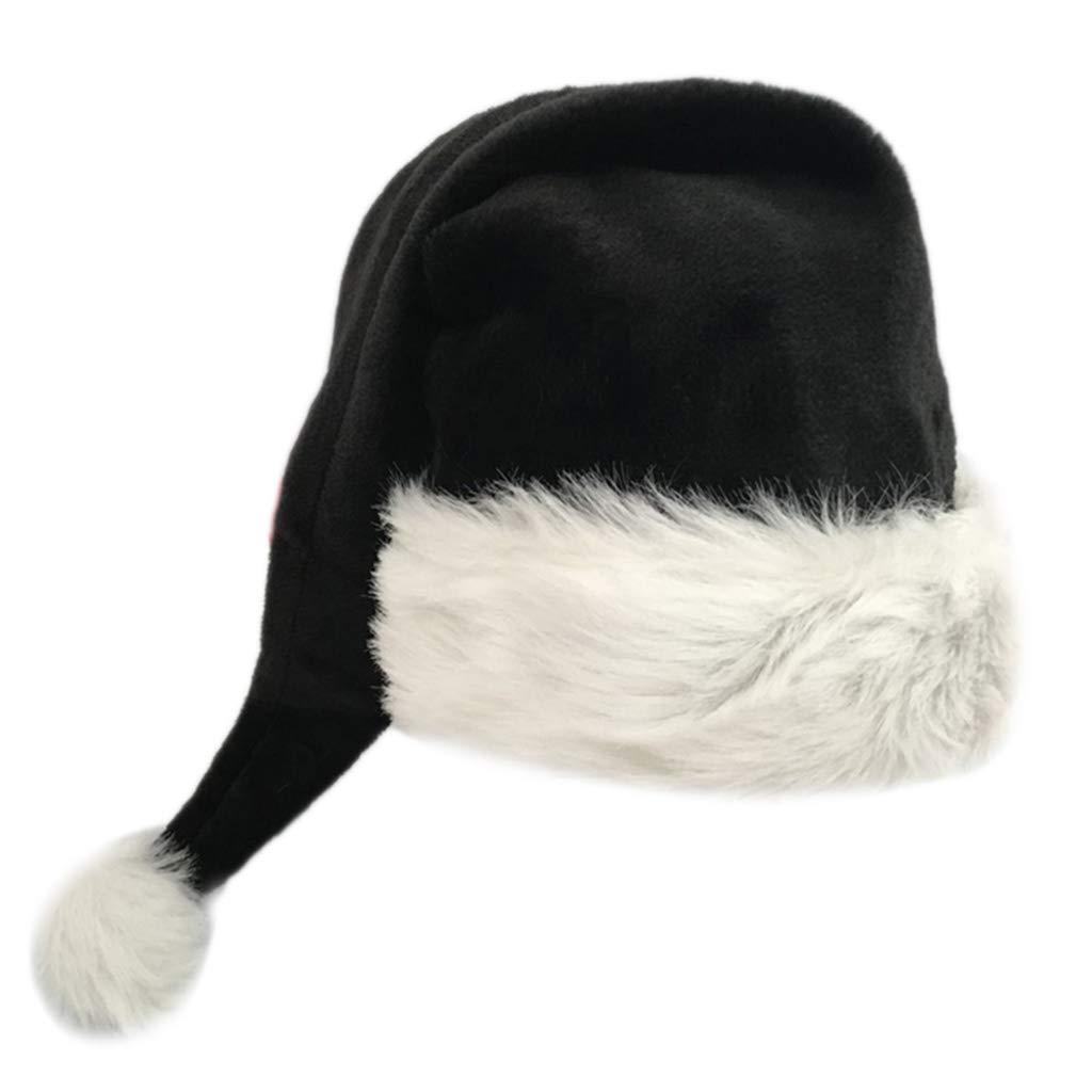 color negro Gorro de felpa para disfraz de Pap/á Noel Vxhohdoxs 75 cm