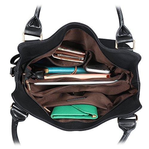 Tote Black Purse Handbag Faux Large Hobo Plambag Leather Women 8wOWqBZR