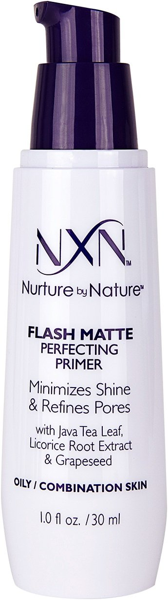 NxN Flash Matte Pore Refining Primer Transforms Skin Into Perfect Canvas Natural & Organic Formula for Oily / Combination Skin, 30ml Nurture By Nature