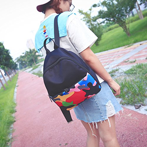 Demiawaking - Bolso mochila  para mujer morado morado 03