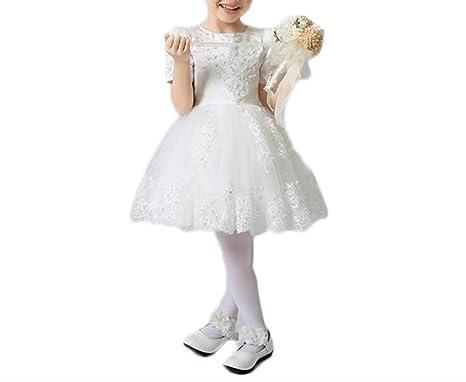 Amazon.com: Shadi Children Prom Dress Princess Lace Dress Short ...