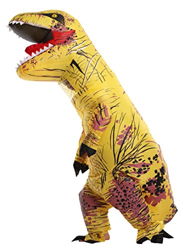 Sasalo Kids Inflatable T Rex Costume Jurassic World Dinosaur Blow Up Suit