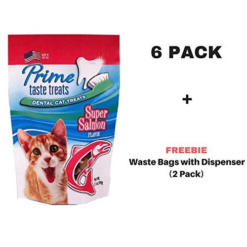 Prime Taste Treats Dental Treats - Super Salmon Flavor (6 Pack + Freebie)