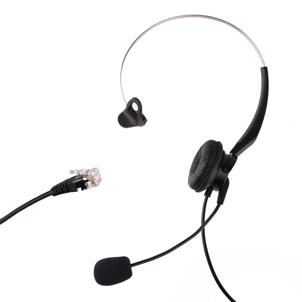 T10 T20 RJ9 Plug S50 Call Center IP Phone Headset S11 Telephone ...