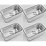 Rinkle Trendz Aluminium - Mini Jelly Cup Cake Tin / Cake Moulds / Pudding / Jelly Cup Mould - Set of 4 Pans